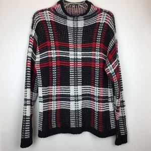 Fuzzy CHAPS plaid Sweater | Medium